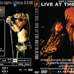 Guns N' Roses 1986-01-18 The Roxy, Los Angeles, CA 2DVD