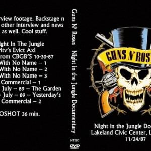Guns N' Roses 1987-11-24 Night in the Jungle DVD