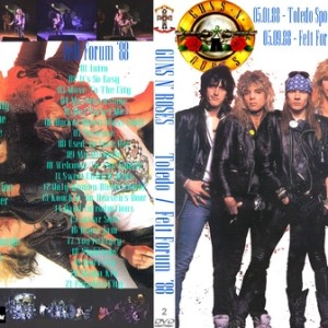 Guns N' Roses 1988-05-01 Toledo Sports Arena, Toledo, OH+ 1988-05-09 Felt Forum, New York, NY 2DVD