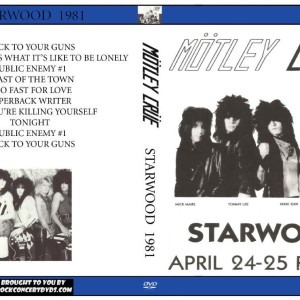Motley Crue - 1981-04-24 Starwood, Hollywood, CA DVD