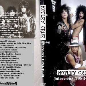 Motley Crue - 1983-90 Interviews DVD