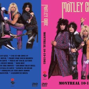 Motley Crue - 1985-10-19 Montreal Canada DVD