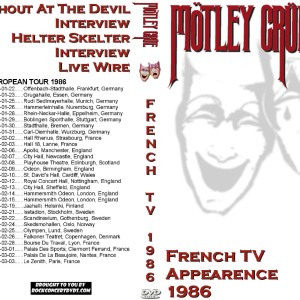 Motley Crue - 1986-01-26 French TV Appearance DVD
