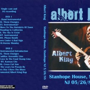 Albert King 1988-05-26 Stanhope House, Stanhope NJ 2 DVD