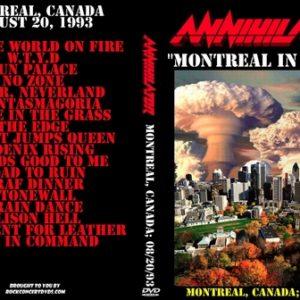 Annihilator 1993-08-20 Montreal Canada DVD