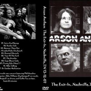 Arson Anthem 2007-12-13 The Exit In, Nashville, TN DVD