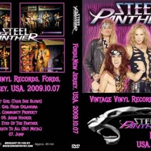 Steel Panther - 2009-10-07 Vintage Vinyl Records, Fords, NJ DVD