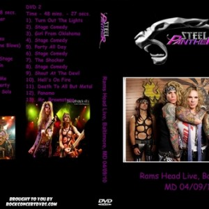 Steel Panther - 2010-04-09 Baltimore MD DVD