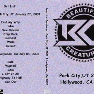 Beautiful Creatures  Park City,UT 2001 & Hollywood, CA 2002 DVD