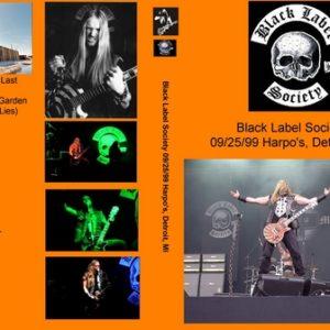 Black Label Society 1999-09-25 Harpo's Detroit MI DVD