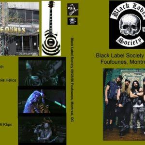 Black Label Society 2000-09-28 Montreal Canada DVD