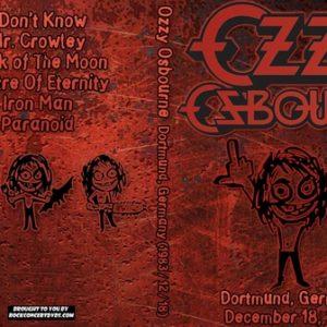Ozzy Osbourne 1983-12-18 Westfalenhalle, Dortmund, Germany DVD