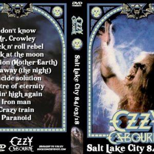 Ozzy Osbourne 1984-03-18 Salt Lake City UT DVD