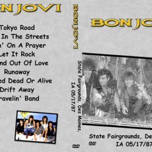 Bon Jovi 1987-05-17 Des Moines IA DVD