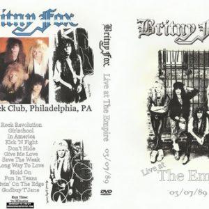 Britny Fox 1989-03-07 The Empire Philadelphia, PA DVD