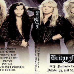 Britny Fox 1989-03-29 Pittsburgh, PA DVD
