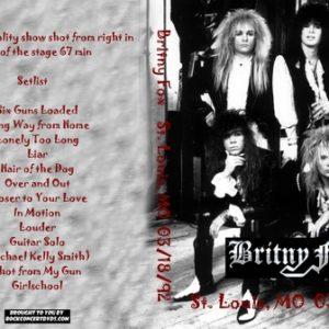 Britny Fox 1992-03-18 St. Louis, MO DVD