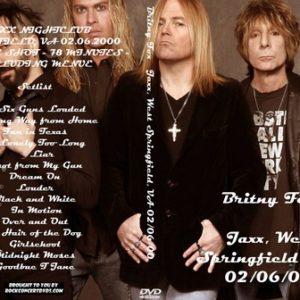 Britny Fox 2000-02-06 Jaxx, West Springfield, VA DVD