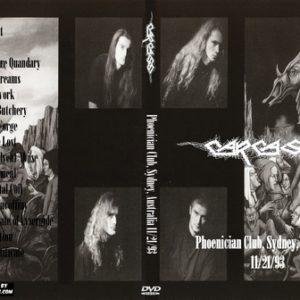 Carcass 1993-11-21 Phoenician Club, Sydney, Australia DVD