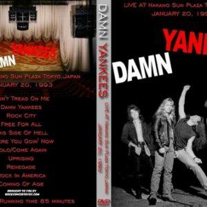 Damn Yankees 1993-01-20 Nakano Sun Plaza, Tokyo, Japan DVD