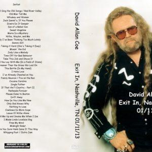 David Allan Coe 2013-01-11 Exit In, Nashville, TN DVD