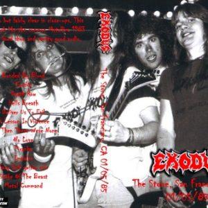 Exodus 1985-01-05 The Stone, San Francisco, CA DVD