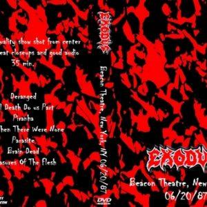 Exodus 1987-06-20 Beacon Theatre, New York, NY DVD
