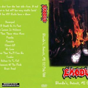Exodus 1988-02-06 Blondie's, Detroit, MI DVD