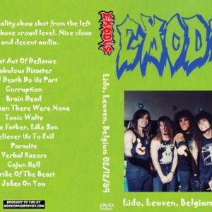 Exodus 1989-02-12 Lido, Leuven, Belgium DVD