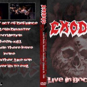 Exodus 1989-02-20 Bochum West Germany DVD