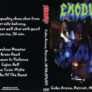 Exodus 1989-04-29 Cobo Arena, Detroit, MI DVD