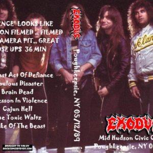 Exodus 1989-05-12 Mid Hudson Civic Center, Poughkeepsie, NY DVD
