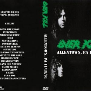 overkill-1991-11-18-allentown-pa-dvd