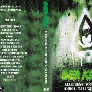 overkill-1991-11-21-club-bene-south-amboy-nj-dvd