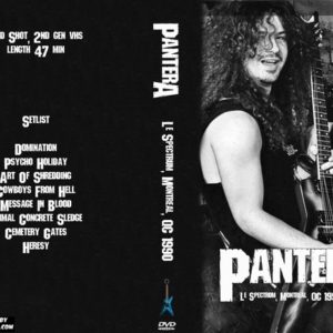 Pantera 1990 Le Spectrum, Montreal, QC DVD
