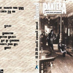 Pantera 1991-02-02 Isstadion, Stockholm, Sweden DVD