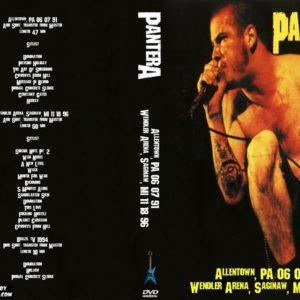 Pantera 1991-06-07 Allentown, PA + 1996-11-18 Wendler Arena, Saginaw, MI + 1994 Brazil TV DVD