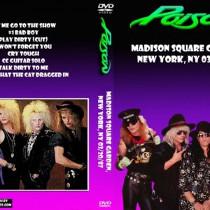 Poison 1987-03-20 Madison Square Garden, New York, NY DVD