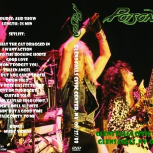 Poison 1988-09-27 Glens Falls Civic Center, Glens Falls, NY DVD
