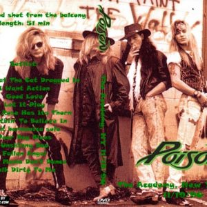 Poison 1990-11-19 The Academy, New York, NY DVD