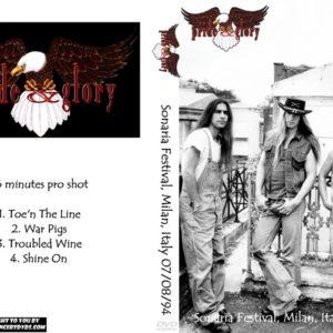 Pride & Glory 1994-07-08 Sonaria Festival, Milan, Italy DVD