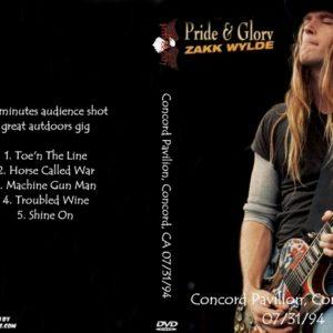 Pride & Glory 1994-07-31 Concord Pavilion, Concord, CA DVD
