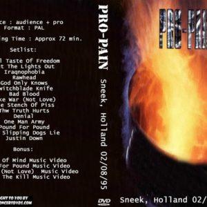 Pro-Pain 1995-02-08 Sneek, Holland DVD