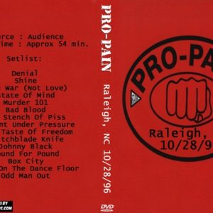 Pro-Pain 1996-10-28 Raleigh, NC DVD