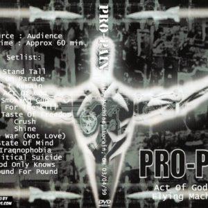 Pro-Pain 1999-03-04 Flying Machine, Lorain, OH DVD