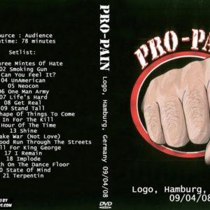 Pro-Pain 2008-09-04 Logo, Hamburg, Germany DVD