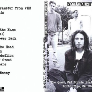 Rage Against The Machine 1991-10-23 The Quad, California State University, Northridge, CA DVD