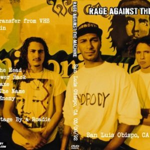 Rage Against The Machine 1992-03-08 San Luis Obispo, CA DVD