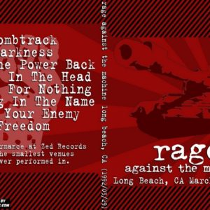 Rage Against The Machine 1992-03-29 Long Beach CA DVD