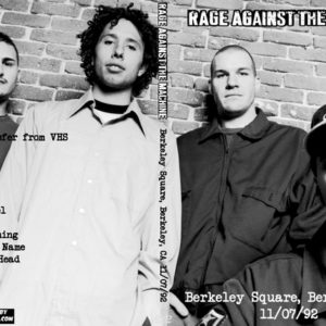 Rage Against The Machine 1992-11-07 Berkeley Square, Berkeley, CA DVD